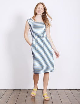 Ivory/Cabin Stripe Blackberry Dress