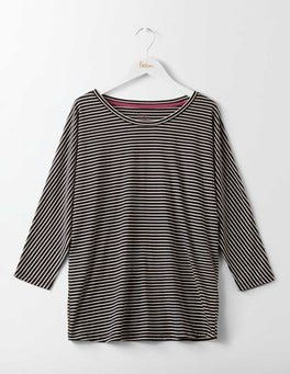 Black/Ivory Supersoft Oversized Top
