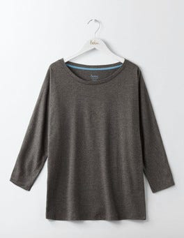 Charcoal Marl Supersoft Oversized Tee