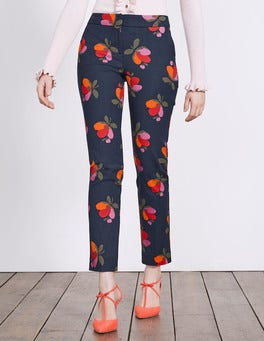 Navy Bloom Richmond 7/8 Trousers