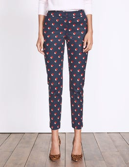 Navy Shadow Spot Richmond 7/8 Trousers
