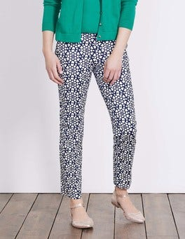 Navy Tile Heart Richmond 7/8 Trousers