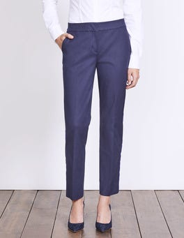 Navy W/ Greek Blue Stripe Richmond 7/8 Trousers
