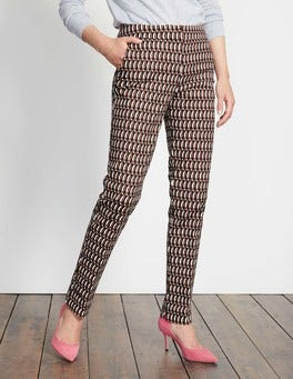 Autumn Brown Crescent Geo Richmond Trousers