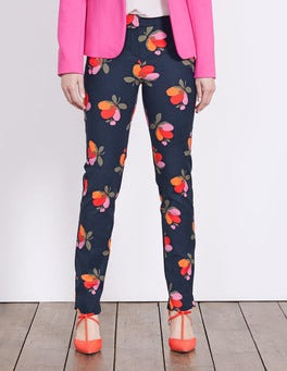 Navy Bloom Richmond Trousers