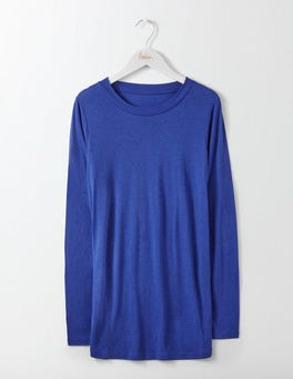 Greek Blue Luxe Crew Tee