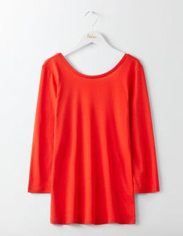 Post Box Red Supersoft Ballet Back Tee