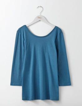 Azure Supersoft Ballet Back Tee
