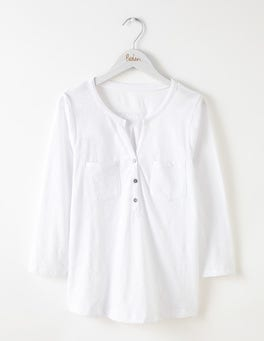 White Easy Jersey Shirt