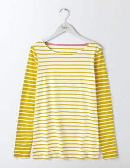 Ivory/Saffron Hotchpotch Long Sleeve Breton
