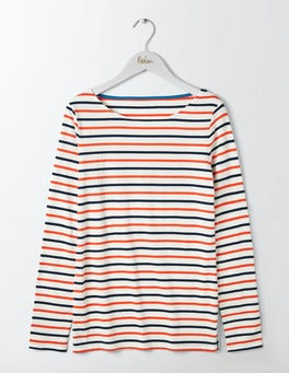 Indigo/Melon Crush Long Sleeve Breton