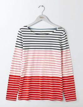 Pink Fizz Multi Stripe Long Sleeve Breton