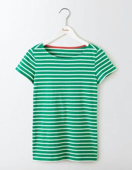 Meadow Green/Ivory Short Sleeve Breton