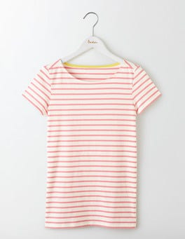 Ivory/Pink Fizz Short Sleeve Breton
