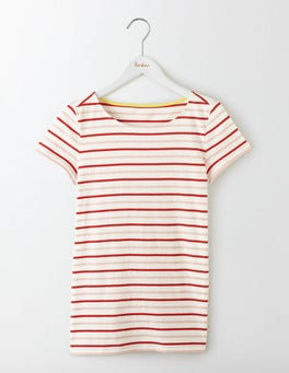 Orange Peel Multi Stripe Short Sleeve Breton