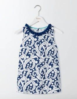 Santorini Blue Acanthus Leaf Melody Jersey Tank