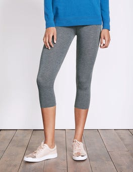 Charcoal Marl Cropped Leggings