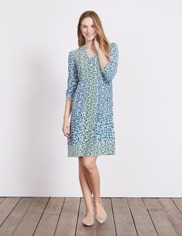 Greek Blue Bloomsbury Spot Mollie Dress