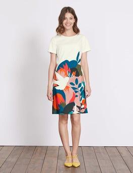 Ivory Multi Swallow Carina Dress