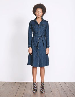 Bright Blue Wash Laura Denim Shirt Dress