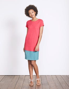 Coral Reef/Delphinium Blue Coralie Jersey Dress