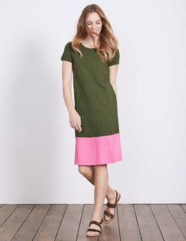 Kale/ Plum Blossom Coralie Jersey Dress