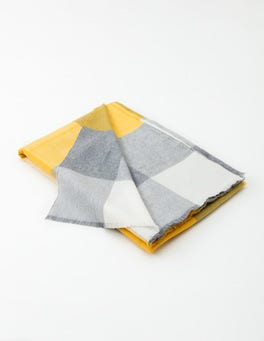 Mimosa Gingham Featherweight Merino Blanket