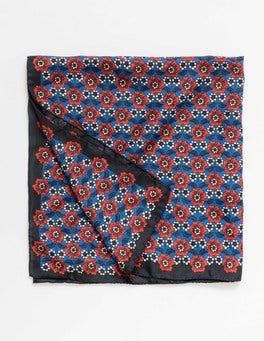 China Blue Maritime Ditsy Emma Silk Scarf