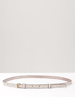 Ivory Spot Pony Skinny Waist Belt