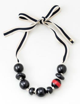 Navy Carina Bead Necklace