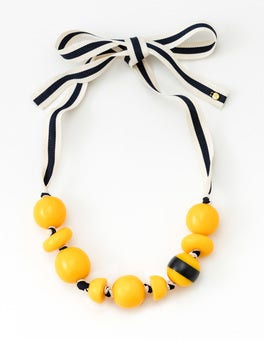 Mimosa Yellow Carina Bead Necklace