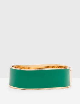 Rich Emerald Enamel Bangle