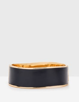 Navy Enamel Bangle