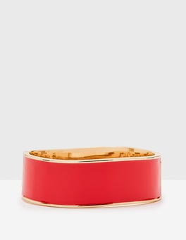 Dahlia Red Enamel Bangle
