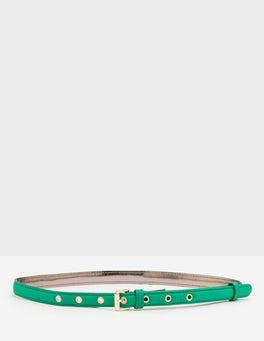 Rich Emerald Skinny Belt