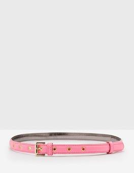 Pink Fizz Skinny Belt