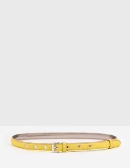 Mimosa Yellow Skinny Belt