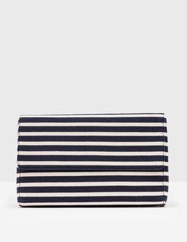 Navy & Ivory Stripe Vita Clutch