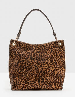 Tan Leopard Verity Bag