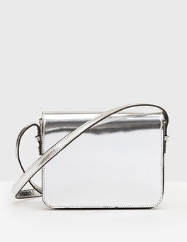 Silver Metallic Rowena Crossbody Bag