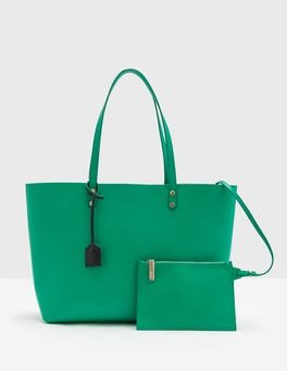 Meadow Green Luxe Leather Shopper