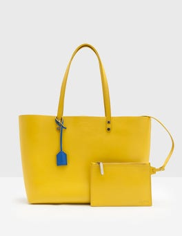 Mimosa Yellow Luxe Leather Shopper