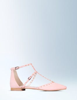Rose Quartz Bonnie Studded Flat