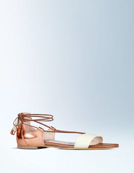 Ivory/Rose Gold Metallic Sienna Sandal