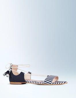 Navy & Ivory Stripe Sienna Sandal