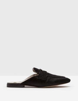 Black Backless Loafer