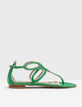 Bright Green Circle Sandal