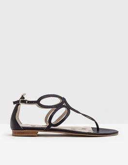 Navy Circle Sandal