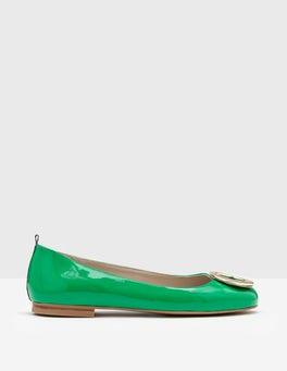 Rich Emerald Joanna Flats