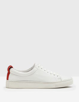 White Hebe Leather Trainer